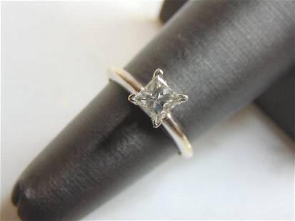 Vintage Estate 14K White Gold .50cts Diamond Ring