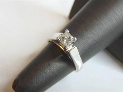 Womens 14K White Gold Diamond Engagement Ring