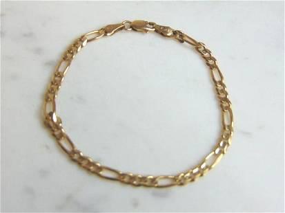 Womens Vintage Estate 14K Gold Chain Link Bracelet