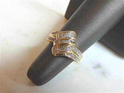 WOMENS VINTAGE ESTATE 10K GOLD DIAMOND RING 3.6g