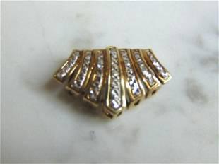 Womens Vintage Estate 10k Gold Slide Pendant