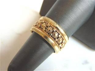 Womens Vintage Estate 14k Gold Wedding Band Ring