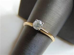 Womens Vintage Estate 14K Gold Diamond Engagement Ring