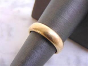 Mens Vintage Estate 14k Yellow Gold Wedding Band Ring