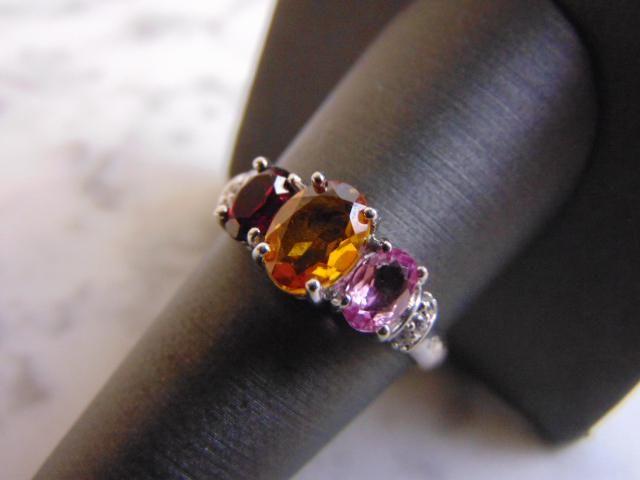 Womens Vintage Estate 14K Gold Multi Stone Diamond Ring