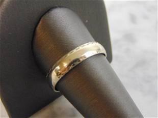 Mens Vintage Estate 14K Gold Artcarved Wedding Ring