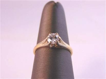 omens Vintage Estate 14k Gold Diamond Engagement Ring