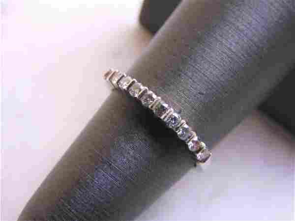 Womens Vintage Estate Platinum Diamond Ring
