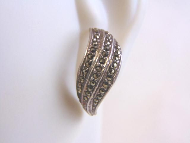 Pr Womens Vintage Estate Sterling Silver Stick Earrings