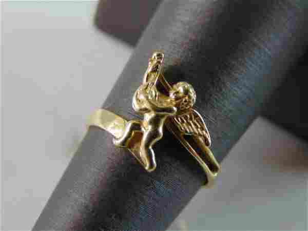 Womens Vintage Estate 14k Gold Cupid Ring