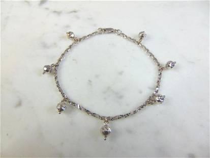 Womens Vintage Estate 18K White Gold Bracelet