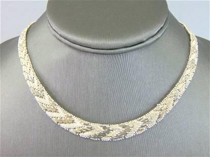 Womens Vintage Sterling Silver Modernist Necklace