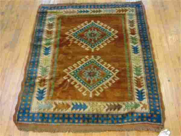 Vintage Estate Semi-Antique Handmade Kazak Rug
