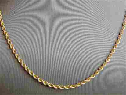 Vintage Estate 14K Yellow Gold Silk Rope Necklace