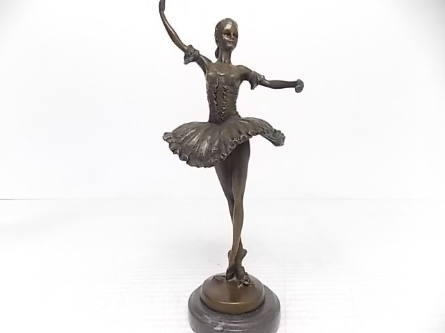 BRONZE BALLERINA DANCER STATUE FIGURE