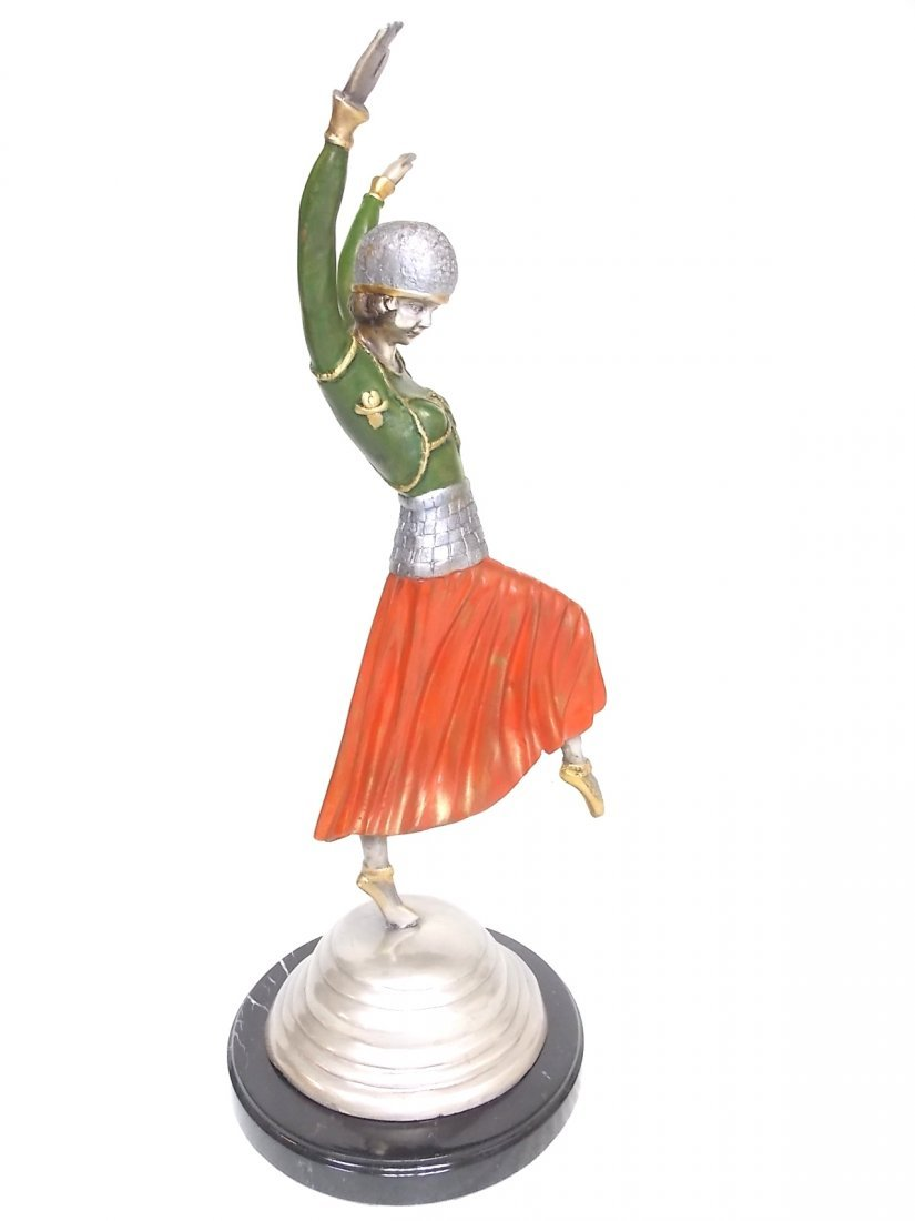 DECORATIVE ART DECO GYPSY DANCER BRONZE STATUE