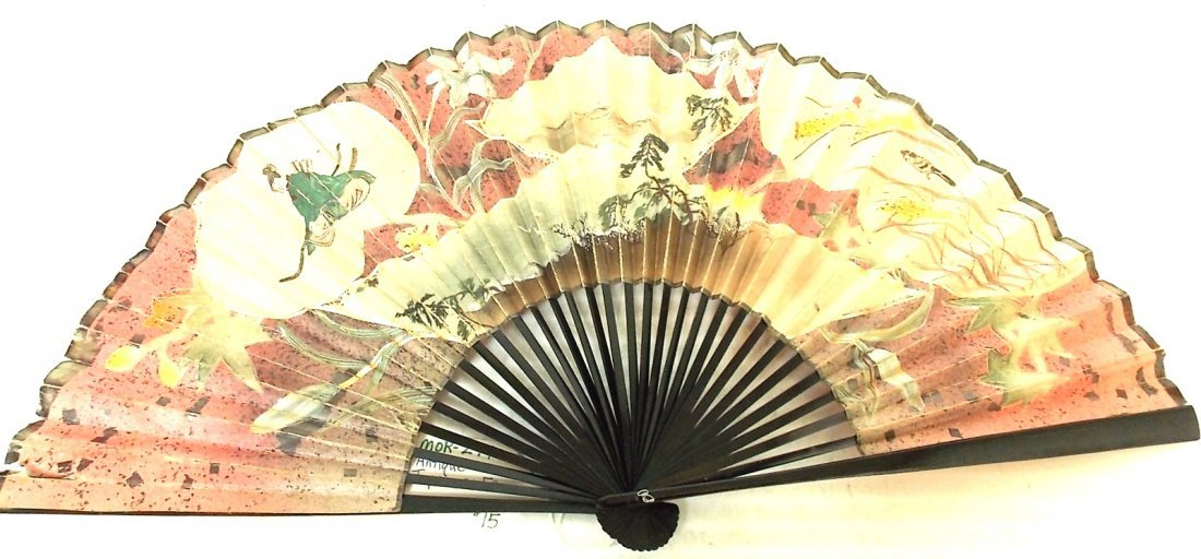 LOT OF 3 DECORATIVE VINTAGE ANTIQUE CHINESE ASIAN FANS