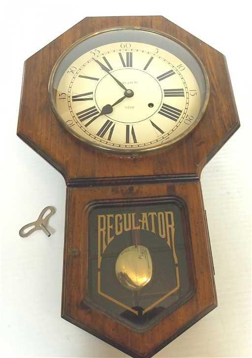 Vintage Verichron 31 Day Regulator Wall Clock