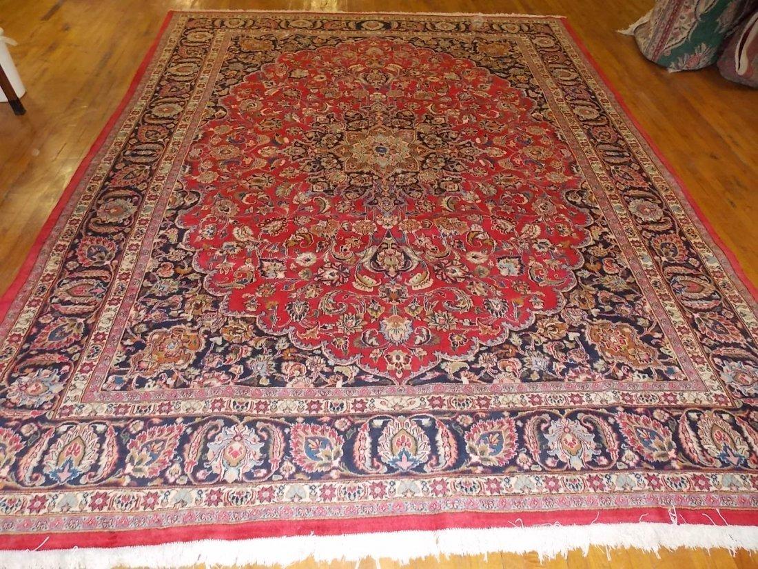 Decorative Handmade Persian Kashan Rug 9 X 12