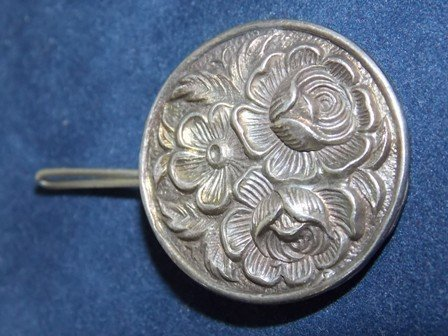 ANTIQUE STERLING SILVER KIRK & SON REPOUSSE PIN