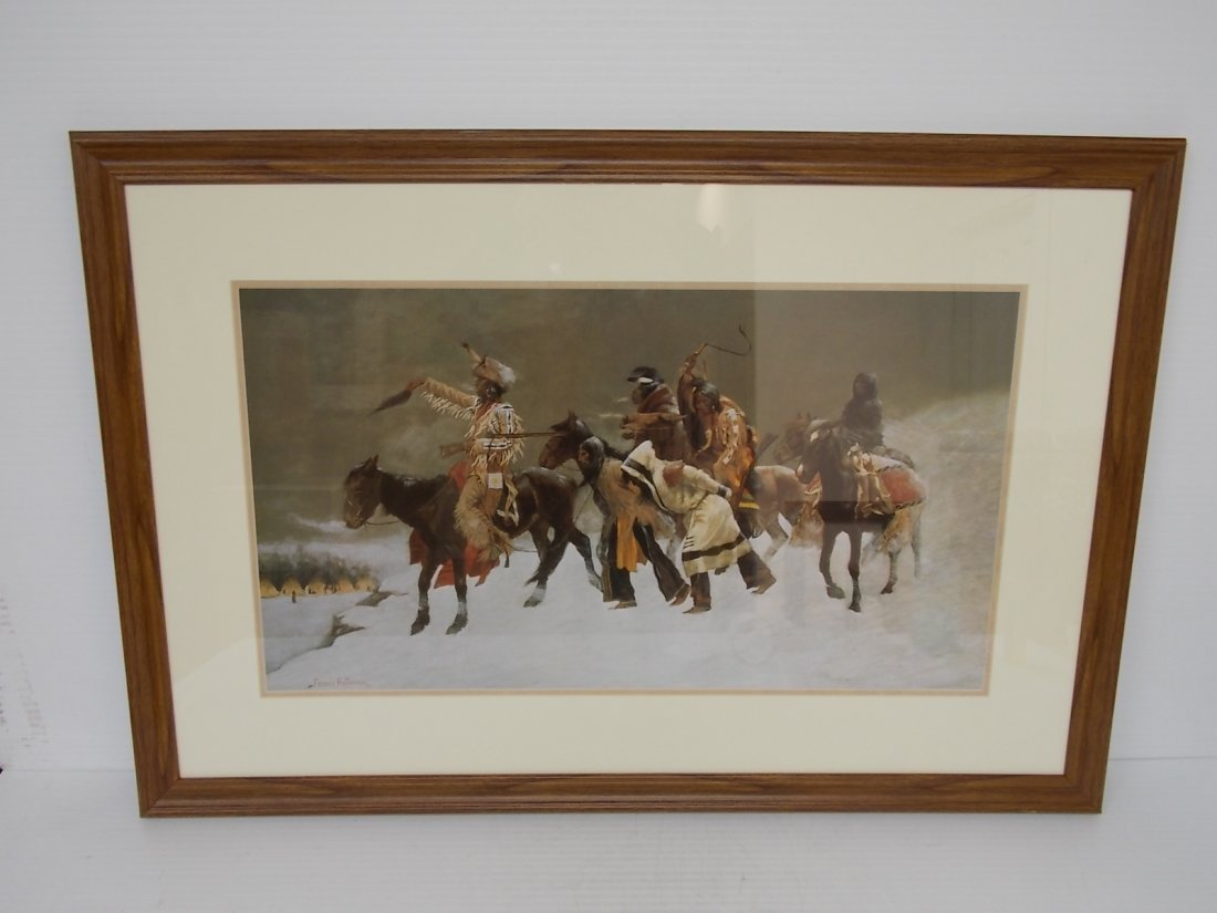 NATIVE AMERICAN INDIAN LITHO RETURN OF BLACKFOOT