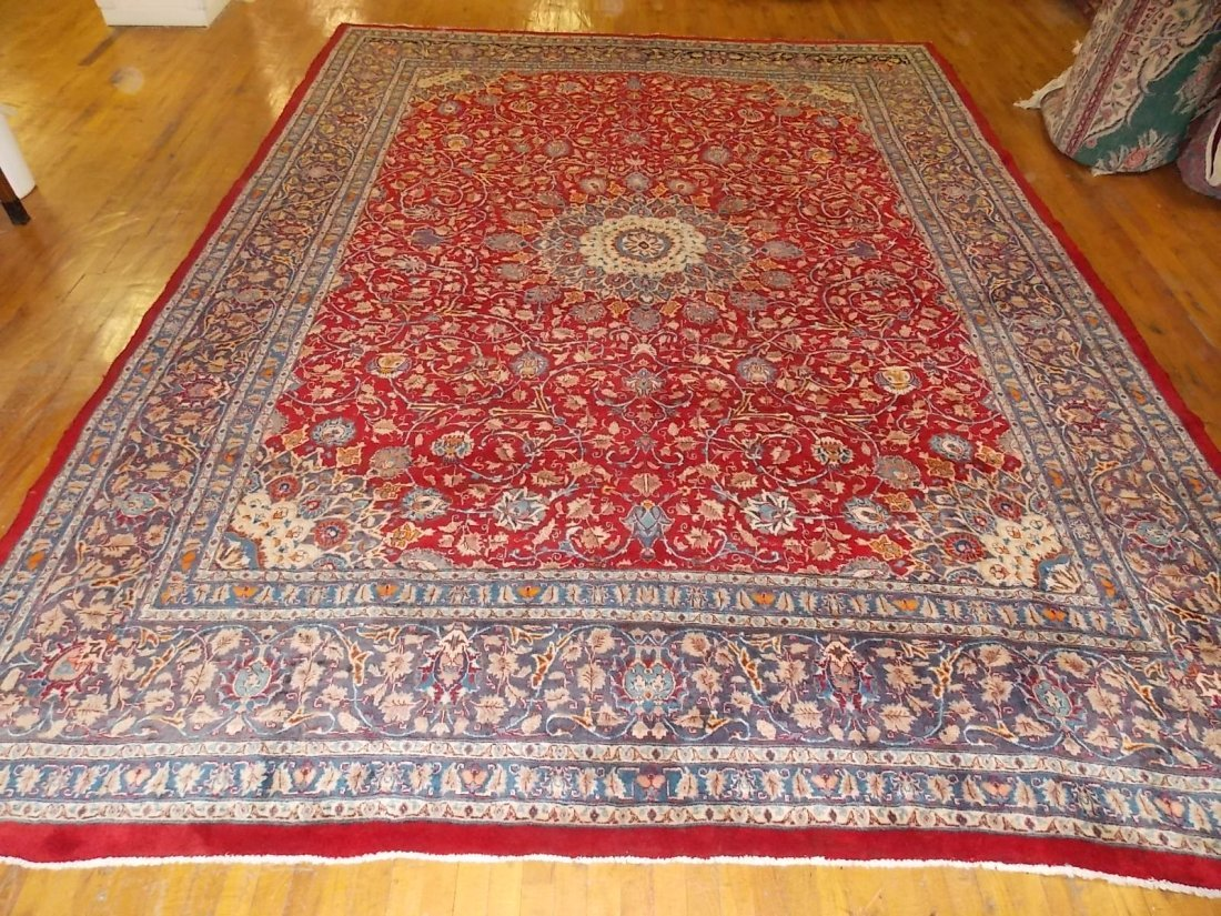 Handmade Meshed Persian Semi Antique Rug 10 X12
