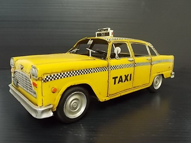 HAND MADE METAL TAXI MODEL