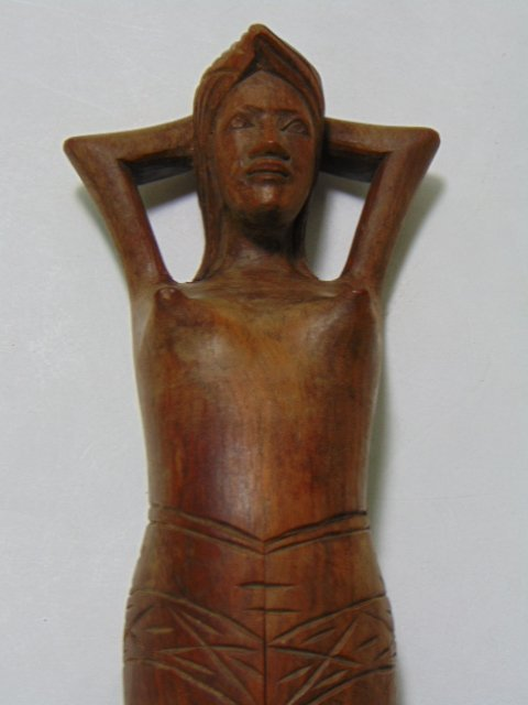 HAND CARVED WOODEN NAUGHTY NELLY NUT CRACKER - 4