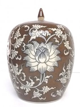 Decorative Hand Painted Chinese Ginger Jar