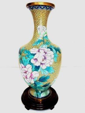Decorative Chinese Asian Cloisonne Vase