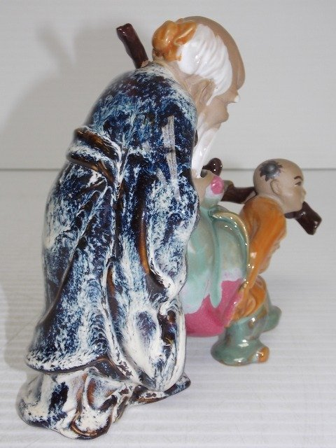 HAND PAINTED CHINESE CLAY STATUE - 3