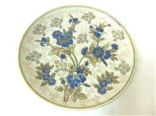 DECORATIVE FLORAL CHINESE PORCELAIN CHARGER PLATE