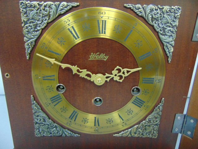 VINTAGE GERMAN WELBY BRACKET CLOCK WESTMINSTER CHIMES - 3