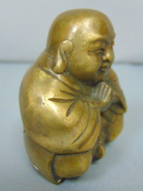 VINTAGE CHINESE BRONZE BUDDHA STATUE - 4