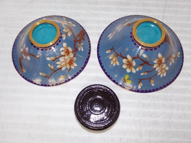 Chinese Asian Cloisonne Mini Rice Warmer W/ Gold - 5