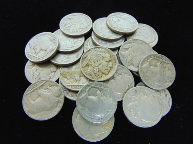 ESTATE FIND LOT OF 23 BUFFALO INDIAN HEAD SILVER NICKEL