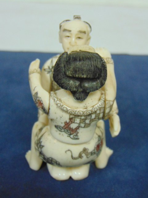 VINTAGE JAPANESE NETSUKE SHUNGA CARVED BONE  FIGURES - 4