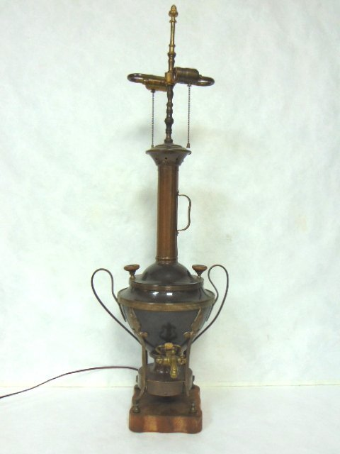 ANTIQUE RUSSIAN OR TURKISH COPPER SAMOVAR LAMP