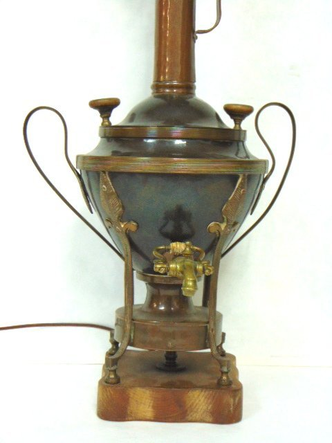 ANTIQUE RUSSIAN OR TURKISH COPPER SAMOVAR LAMP - 2