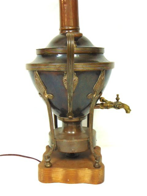 ANTIQUE RUSSIAN OR TURKISH COPPER SAMOVAR LAMP - 3