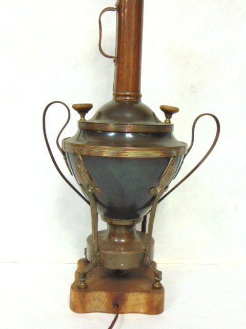 ANTIQUE RUSSIAN OR TURKISH COPPER SAMOVAR LAMP - 4