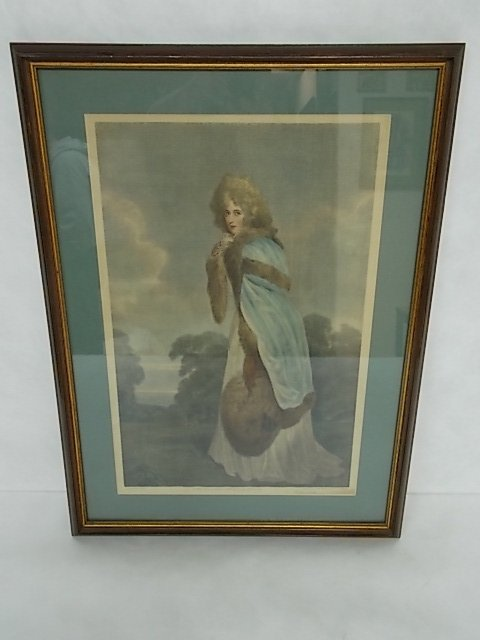 ANTIQUE COLORED ENGRAVING ? PRINT BY F. BARTOLOZZI