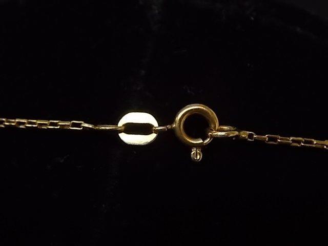 Vintage Estate 14K Gold Chain Necklace W/ Heart Pendant - 3