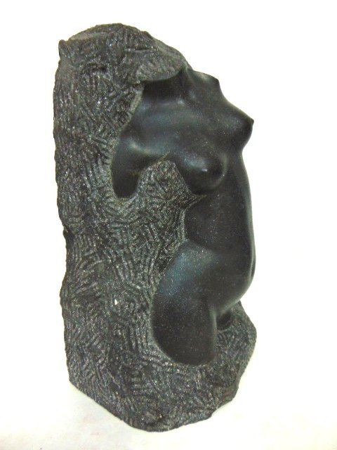 VINTAGE FRENCH ? NUDE STONE SCULPTURE - 2