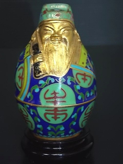 Collectible Chinese Cloisonne Immortal Jar