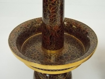 VINTAGE CHINESE ASIAN CLOISONNE CANDLESTICK HOLDERS - 3