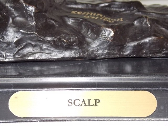 "LIMITED EDITION BRONZE ""SCALP"" BY REMINGTON STATUE - 8"