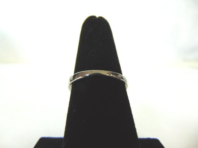 Womens Sterling Silver .925 Ring w/ Sapphire Stone 2.7g - 4