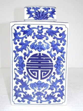 CHINESE PORCELAIN FLORAL DOUBLE HAPPINESS GINGER JAR