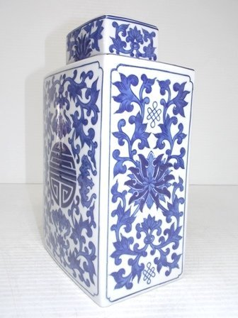 CHINESE PORCELAIN FLORAL DOUBLE HAPPINESS GINGER JAR - 3